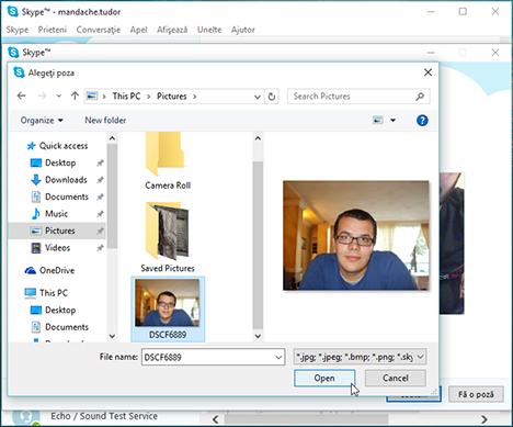 Skype, Windows, aplicatie, foloseste, gestionare, administrare, profil, confidentialitate, setari