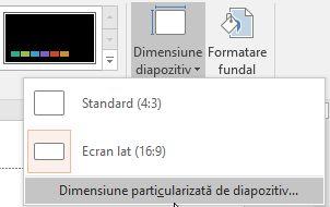 Microsoft PowerPoint,marime, slide, diapozitive, schimba