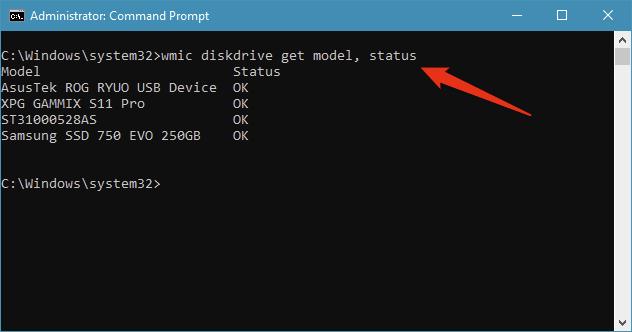Windows 10 îți oferă opțiunea de a verifica starea SMART a unităților tale de stocare