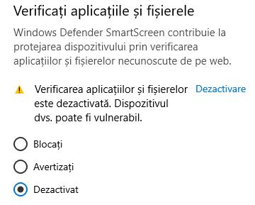 Verificați aplicațiile și fișierele