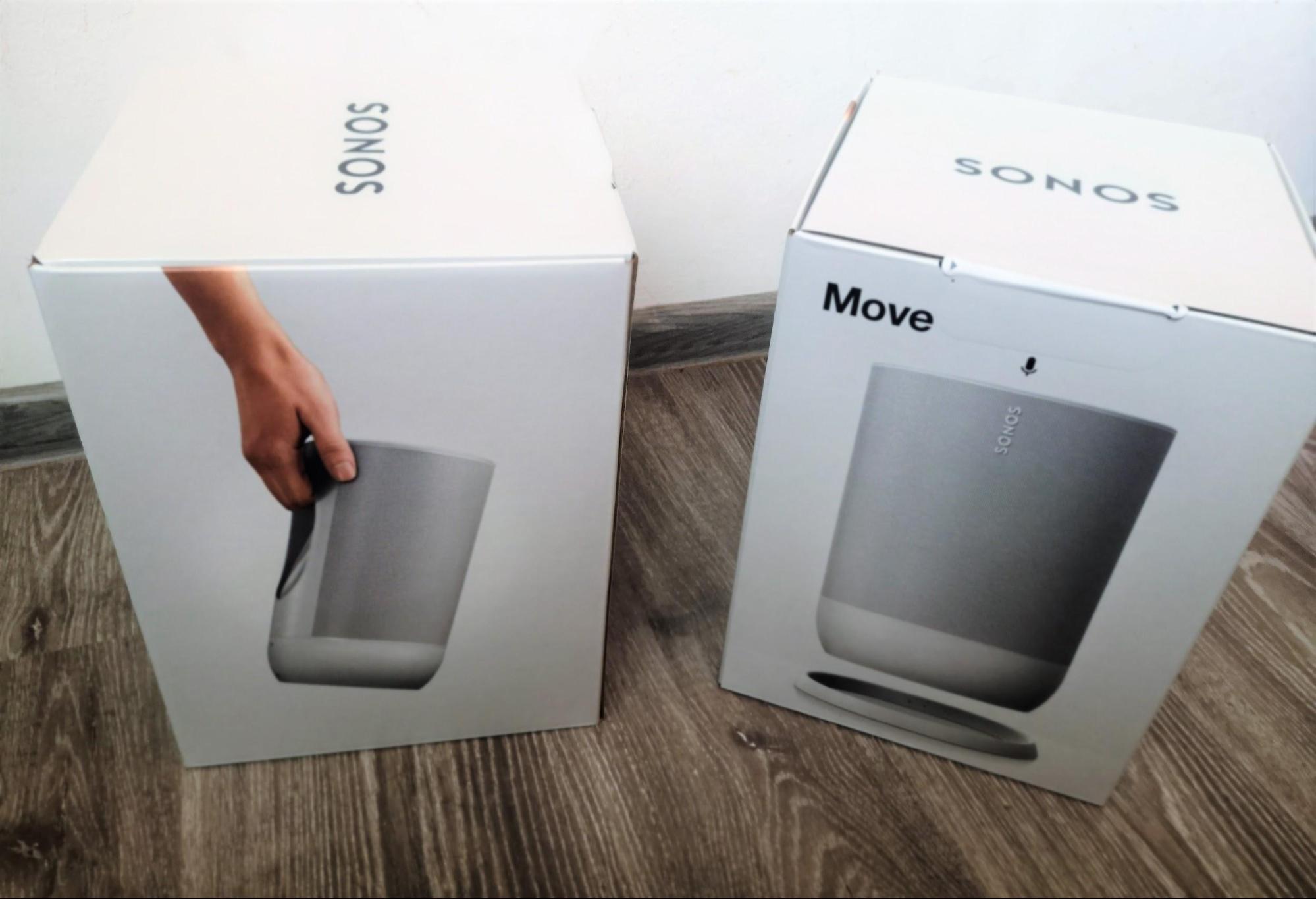 Cum arată cutiile boxelor Sonos Move