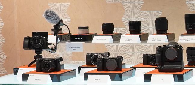 Camere digitale Sony cu obiective interschimbabile