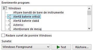 sunete, schema sunet, redate, cand, Windows