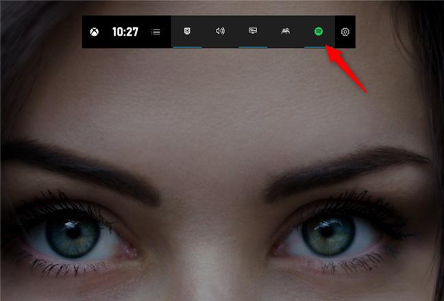 Butonul Spotify din Xbox Game Bar