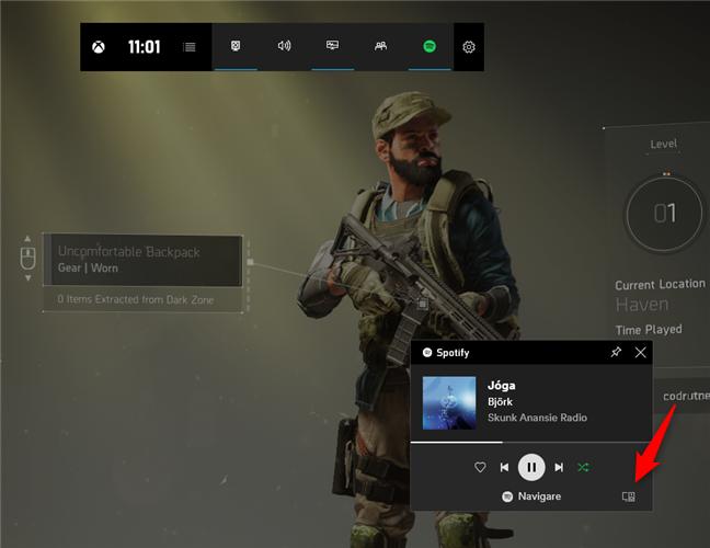 Selectarea dispozitivul pe care Spotify își redă muzica