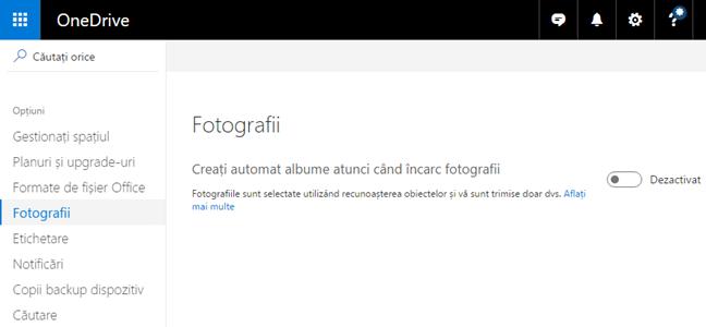 OneDrive, albume, foto, automat