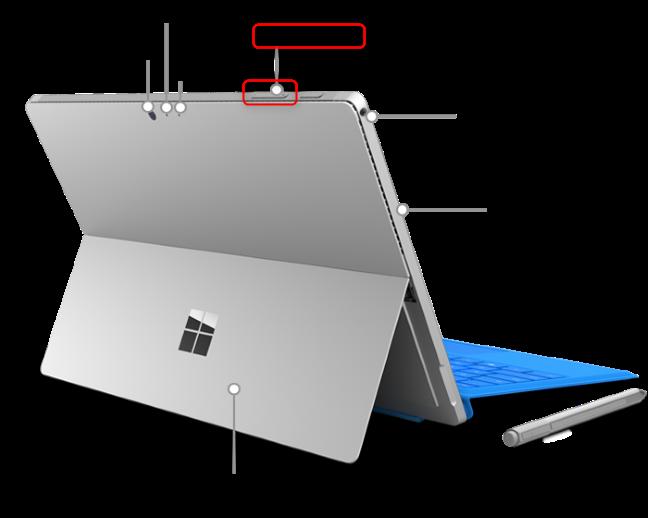 Butonul pentru controlul sunetului de pe un Surface Pro