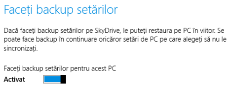 SkyDrive, Windows 8.1,sincronizare, setari