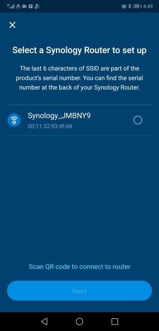 Configurarea Synology MR2200ac în aplicația DS Router