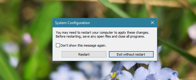 System Configuration, Windows