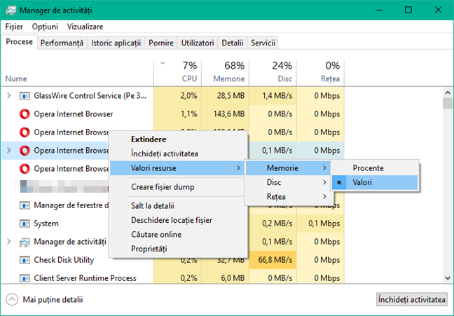 Task Manager, Windows, Managerul de activitati