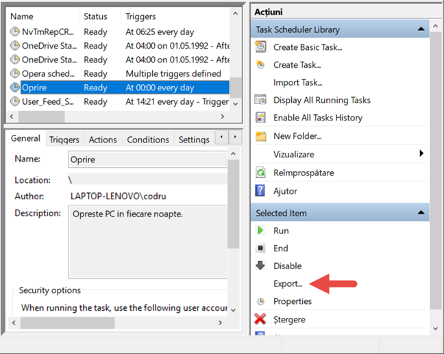 Task Scheduler, Windows