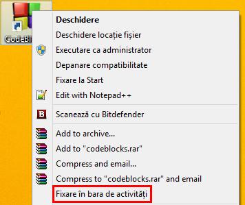Taskbar, Windows, bara de activitati, caracteristici