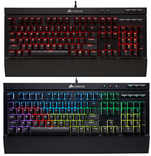 CORSAIR K68 - lumină de fundal roșie vs. RGB