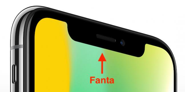 Fanta pe un iPhone X