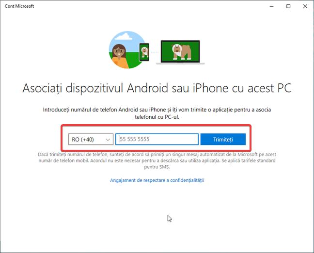 Asociază dispozitivul Android sau iPhone cu acest PC în Windows 10