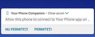 Permisiunea cerută pe Android