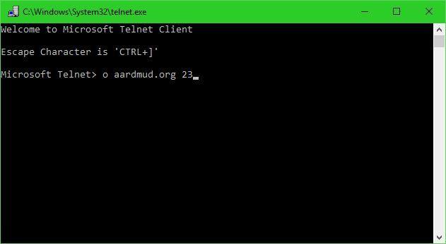 Telnet, client, Windows, instaleaza
