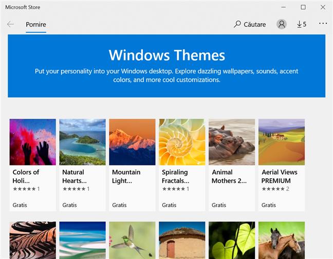 Descoperă noile teme Windows