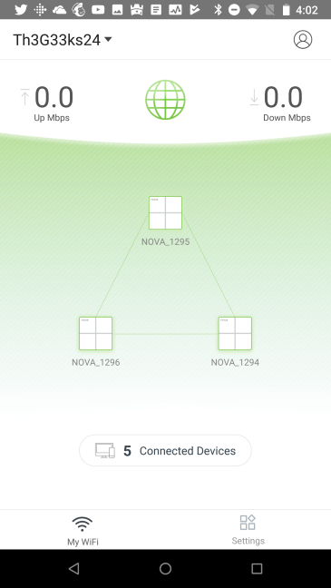 Aplicația mobilă Tenda WiFi