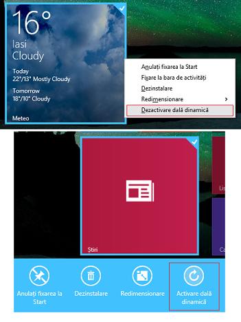 Windows 8.1, ecranul Start, dale, personalizare, grup, nume, dale dinamice