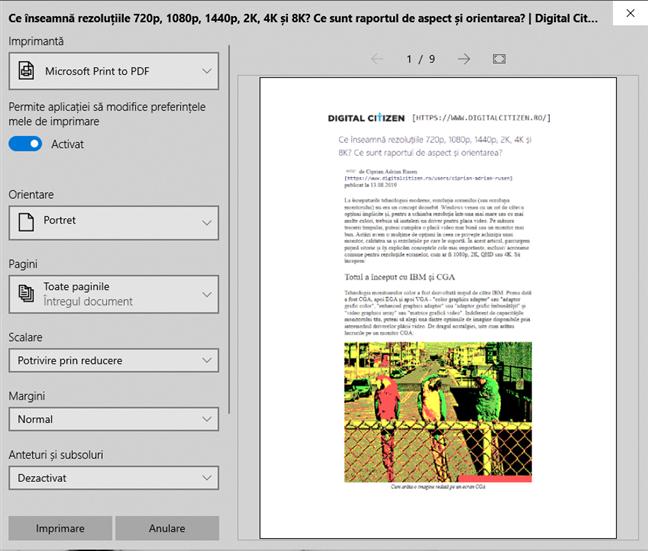 Digital Citizen România oferă în mod implicit tipărirea fără reclame