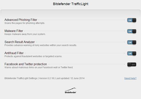 Bitdefender TrafficLight, protectie, navigare, internet, securitate