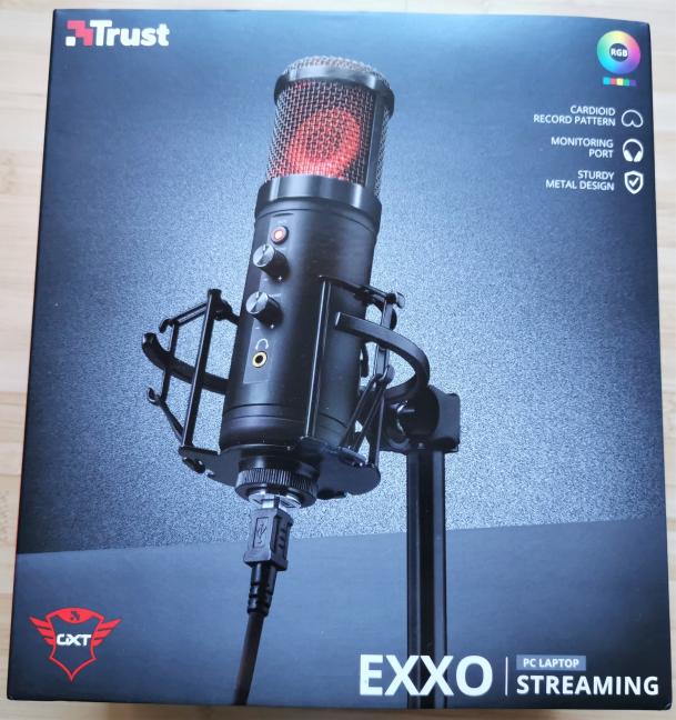Cutia în care vine Trust GXT 256 Exxo