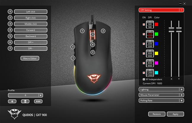 Aplicația Trust GXT GXT 900 Qudos mouse