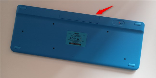Spatele tastaturii wireless Trust Veza