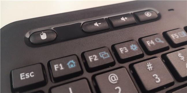 Tastele de volum de pe tastatura wireless Trust Veza