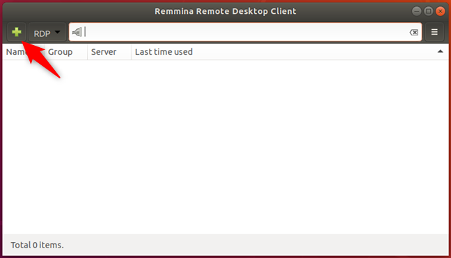 Crearea unei conexiuni noi în Remmina Remote Desktop Client