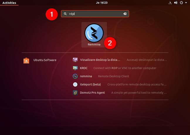 Căutarea clientului RDP implicit din Ubuntu
