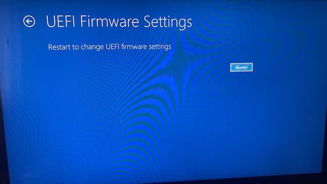 Repornește-ți dispozitivul pentru a accesa BIOS