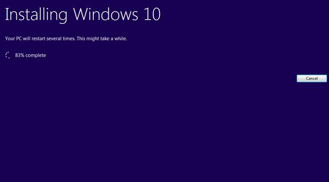 upgrade la Windows 10