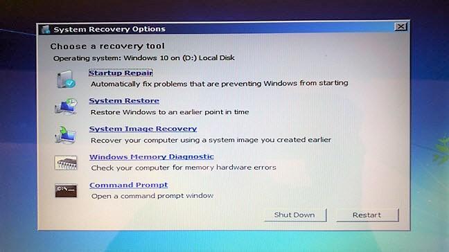 Windows 7, recuperare, memorie, USB