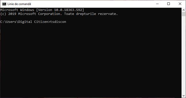 Utilizarea tsdiscon pentru a comuta între utilizatori în Windows 10