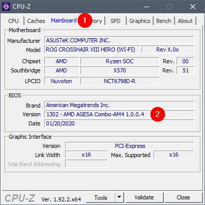 Verifică versiunea de BIOS în CPU-Z