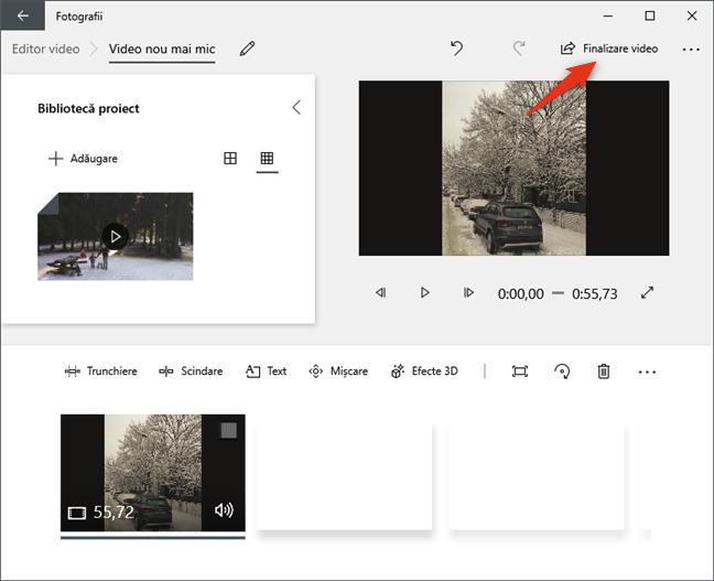 Butonul Editor video