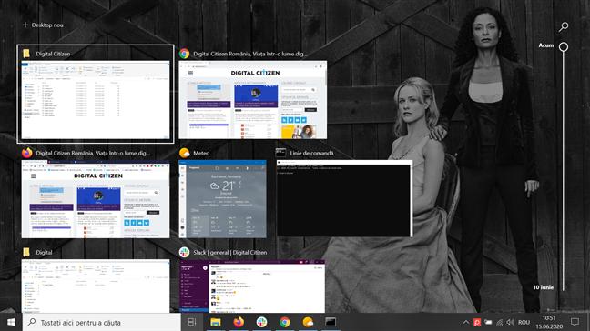 Vizualizare activități în Windows 10