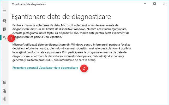 Politicile de eșantionare Microsoft pentru colectarea de date din Windows 10