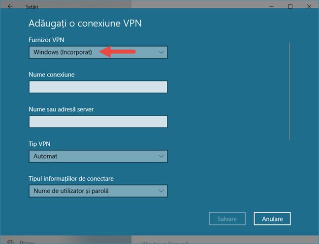 Windows 10, VPN, conexiune