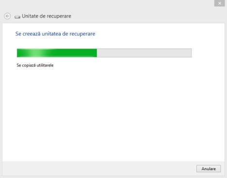 Recuperare sistem, memorie flash USB, unitate recuperare, creator medii de recuperare, Windows 8, Windows 8.1