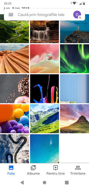 Imaginile implicite din Google Foto, pe ASUS ZenFone Max Pro