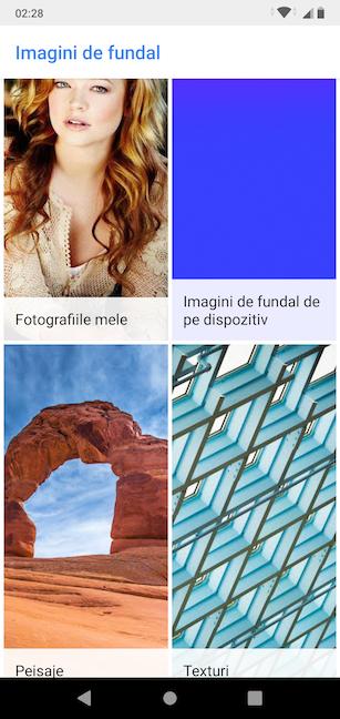 Navighează prin toate imaginile de fundal de pe dispozitivul tău