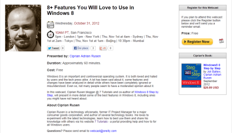 Webcast - 8+ Features You Will Love to Use in Windows 8