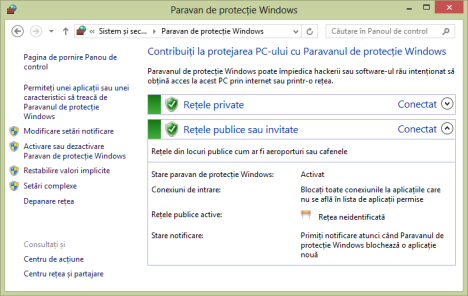 Windows Firewall, protecție, bună, paravan, rețea