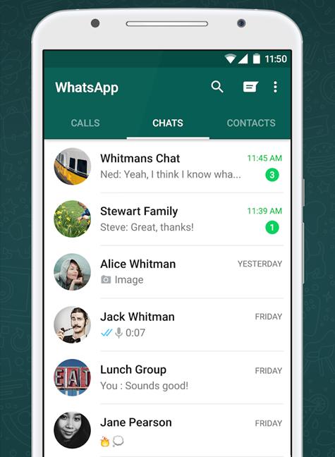 Aplicația oficială WhatsApp pentru Android