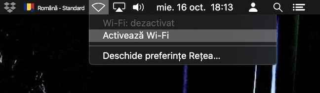 Activează Wi-Fi pentru a vedea rețelele disponibile