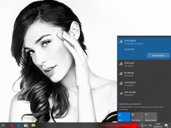 Windows 10 afișează rețelele wireless din zona ta
